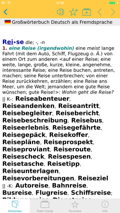 German Learner's Dictionary Langenscheidt iPhone Screenshot 1