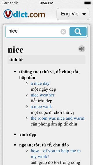 VDict - Vietnamese Dictionary