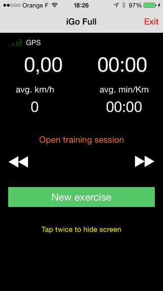 iGo personal coach iPhone Screenshot 1