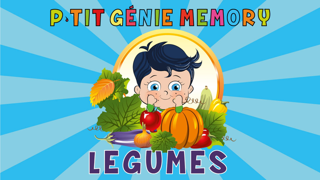 Learn French with Little Genius - Matching Game - Vegetables