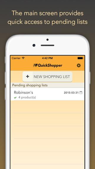 QuickShopper: shop faster
