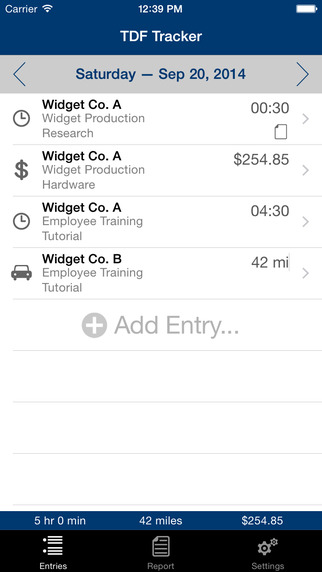 TDF Tracker – Time Expense and Mileage Tracking