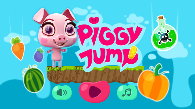 Piggy Jump › Hungry Piglet Endless Jumping Adventure