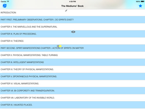 The Book on Mediums iPad Screenshot 1