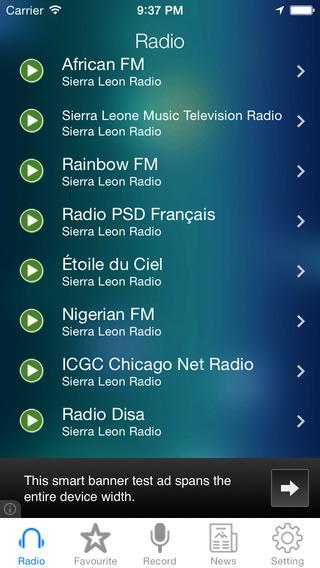 Sierra Leone Radio News Music Recorder