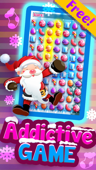 Candy Games Christmas 2015 - Xmas Soda Candies Match 3 Puzzle For Children HD FREE