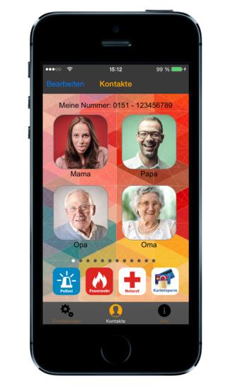 TelFav 2.0 - Einfache Favoriten Telefonbuch Kurzwahl Direktwahl Bildtelefon App mit integrierter Not