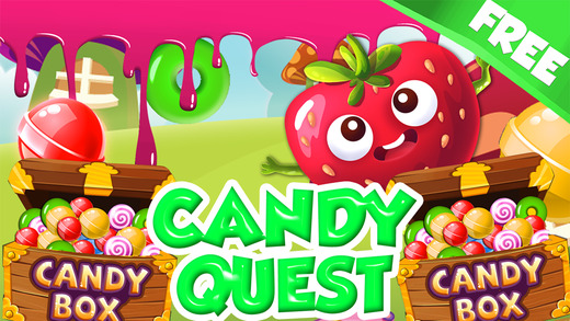 ``` A Candy Quest``` - get top score in match-3 puzzle mania 4 kid's