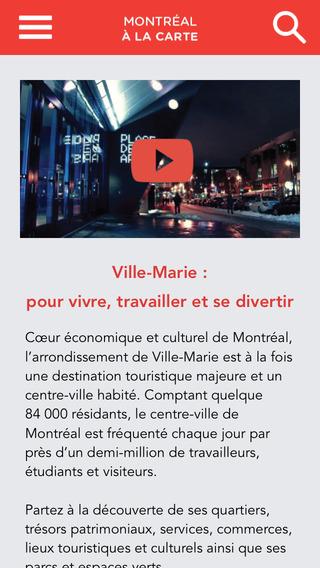 Montréal à la carte – Centre-ville