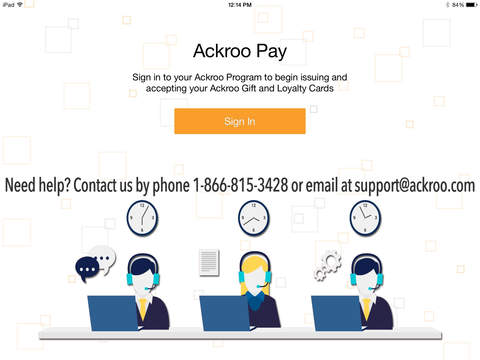 Ackroo Pay Issue and Accept Ackroo Gift and Loyalty Cards with our Mobile Point-of-Sale
