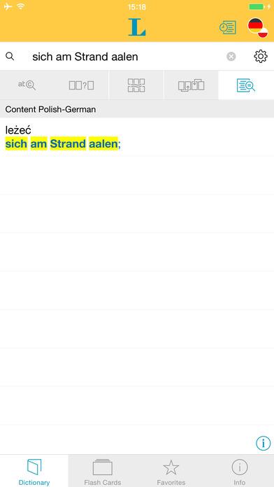 Polish <-> German Dictionary Langenscheidt Standard iPhone Screenshot 2
