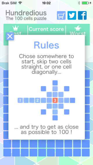 Hundredious 100 Cells Puzzle Game