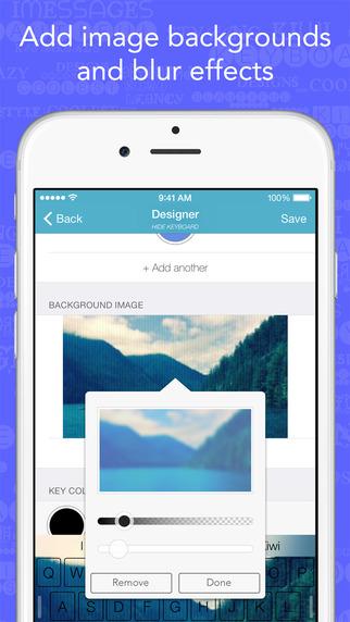Kiwi - Colorful, Custom Keyboard Designer with Emoji for iOS 8 Screenshots