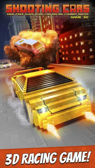 Shooting Cars . Mine Free Guns Road Car Racing Combat Racer Game 3D