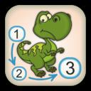 Dinosaurs - Punkte verbinden und Farben hinzufügen - Gratis