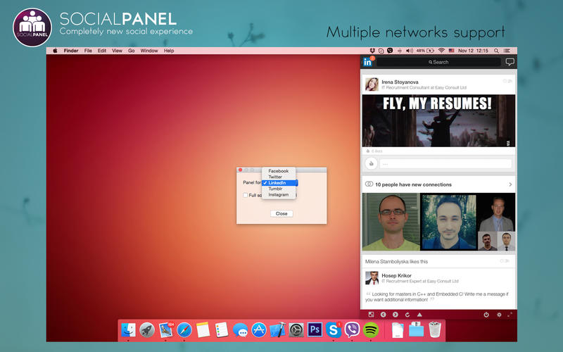 SocialPanel for Mac 1.3.8 激活版 – 国外社交网络多合一工具-麦氪派