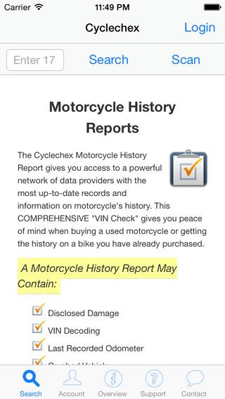Cyclechex iPhone Screenshot 1