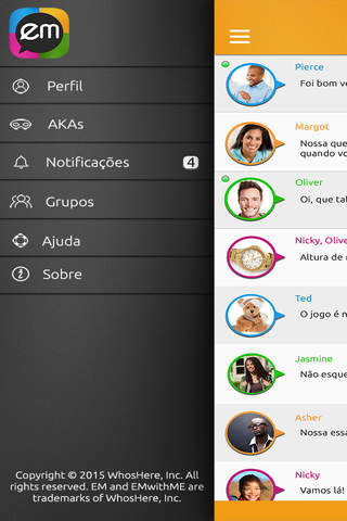 EMwithME - Free Text, Voice & Group Chat screenshot 1
