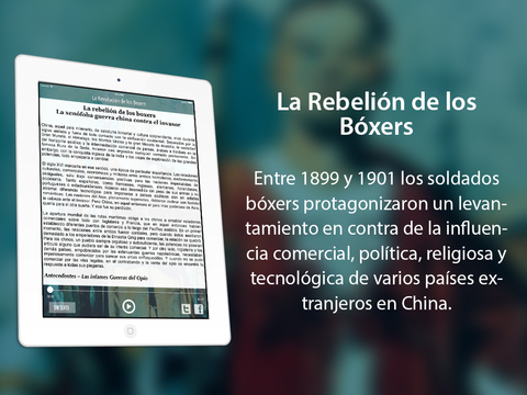 La Rebelión de los bóxers: expresión del descontento chino frente a las ingerencias potencias europeas iPad Screenshot 2