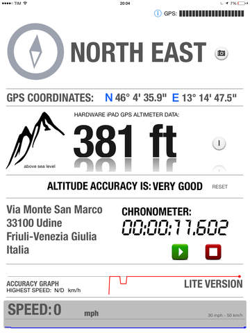 Altimeter GPS HD - Elevation Compass Location Tracking Free