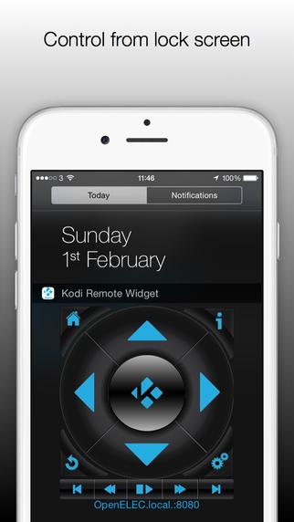 Kodi XBMC Remote Control Widget