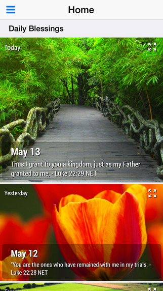 Daily Blessings - Bible Devotional