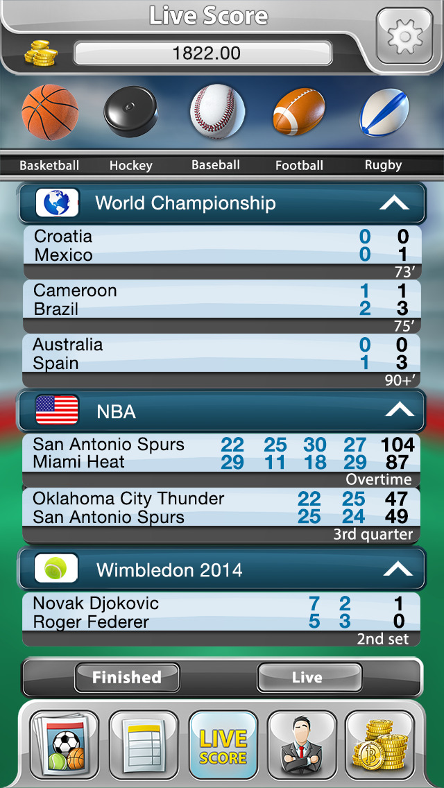 Sports Betting Bookie Game: Bet Manager with Online Live ...