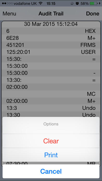 TimeCodeCal iPhone Screenshot 3