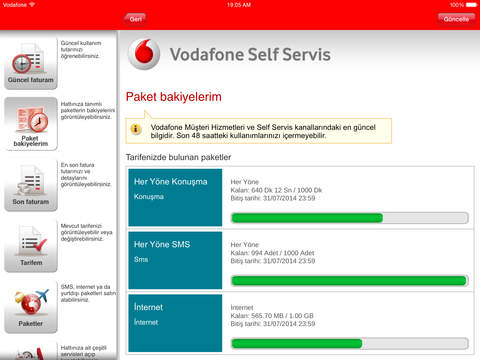 Vodafone Self Servis for iPad