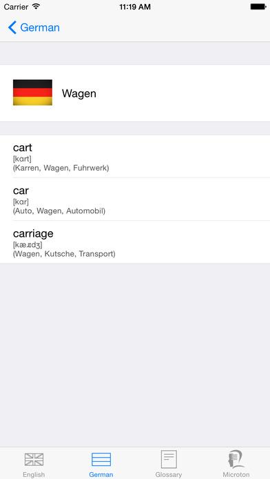 iWörterbuch German-English iPhone Screenshot 4