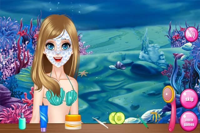 动漫手绘图片女生海洋
