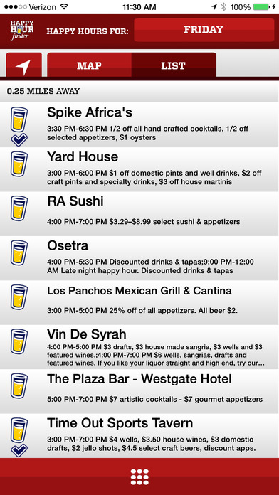 Happy Hour Finder iPhone Screenshot 2