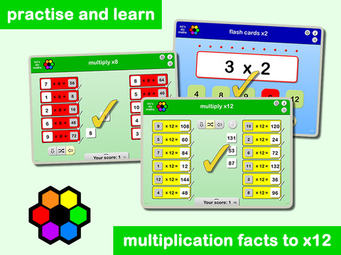 Multiplication facts x2 to x12