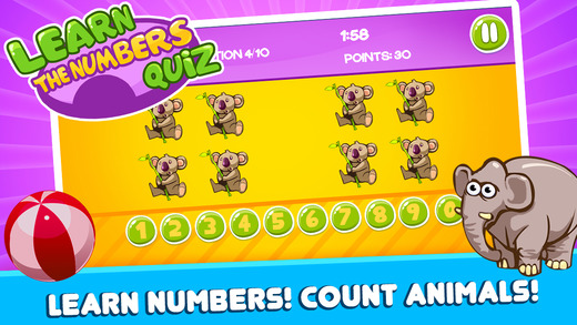 Learn Numbers Quiz