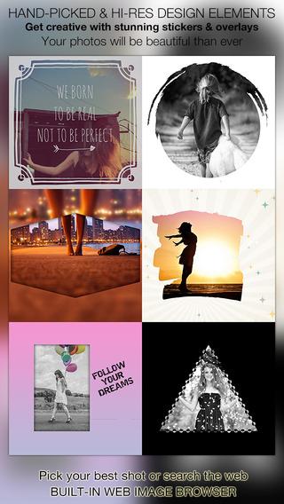Snap Shape On Photo : Image Editing - Get creative