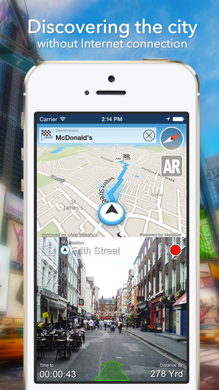 London Offline Map + City Guide Navigator Attractions and Transports