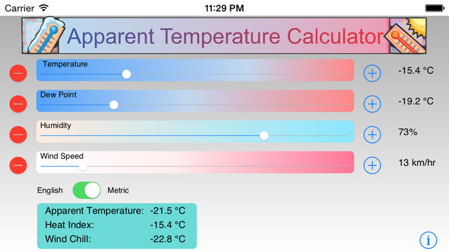 Apparent Temperature Calculator