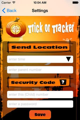 Trick or Tracker 3.0 app screenshot
