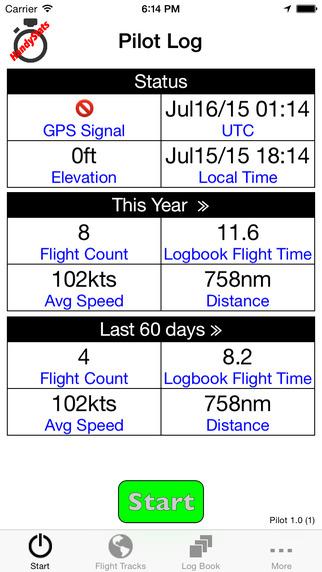 HandyStats Pilot Logbook