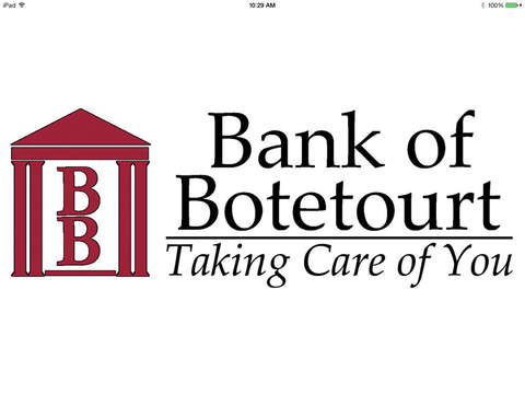 Bank of Botetourt for iPad