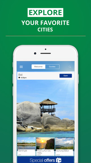 Bali - your travel guide with offline maps from tripwolf guide for sights tours and hotels in Seminy