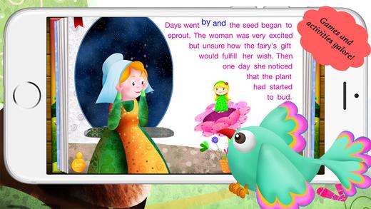 玩免費書籍APP|下載Thumbelina by Story Time for Kids app不用錢|硬是要APP