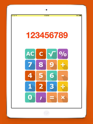 Flat Calculator For iPhone, iPod and iPad Screenshots