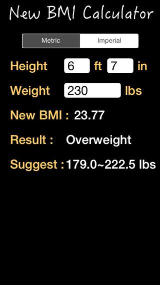 BMI Calculator New