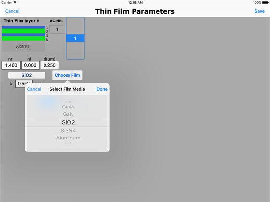 Thin Films iPad Screenshot 2