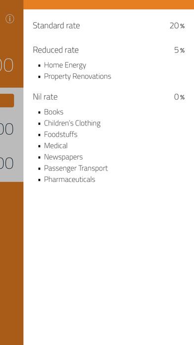 VAT Calc iPhone Screenshot 2