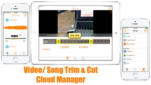TRIM CUT PRO - Editor Cutter Record Backup Files