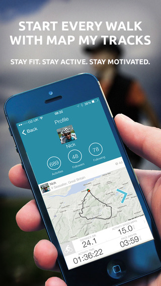 Map My Tracks Walking OutFront - GPS walk and hiking activity tracker