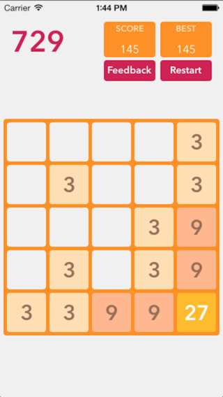3*3=9 For 2048 Style Super hard Game Professional Math Number Free Game