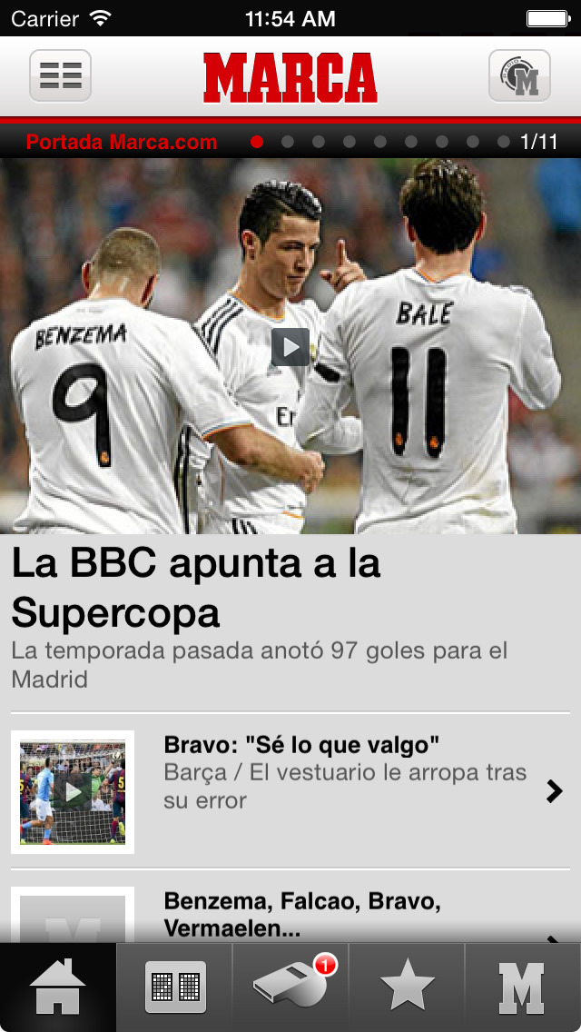Screenshots #1. MARCA.com / iOS